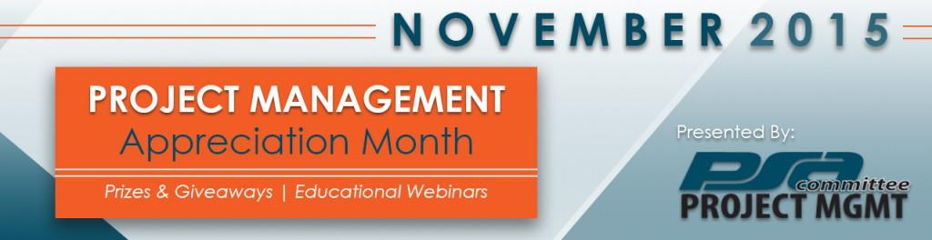 2015 Project Management Appreciation Month Banner