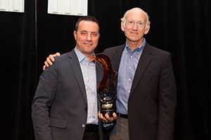 L: JR Andrews, National Sales Executive, Altronix; R: Bill Bozeman, President & CEO, PSA Security Network)