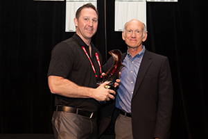 L: Dan Hughes, National Sales Manager, Windy City Wire; R: Bill Bozeman, President & CEO, PSA Security Network)